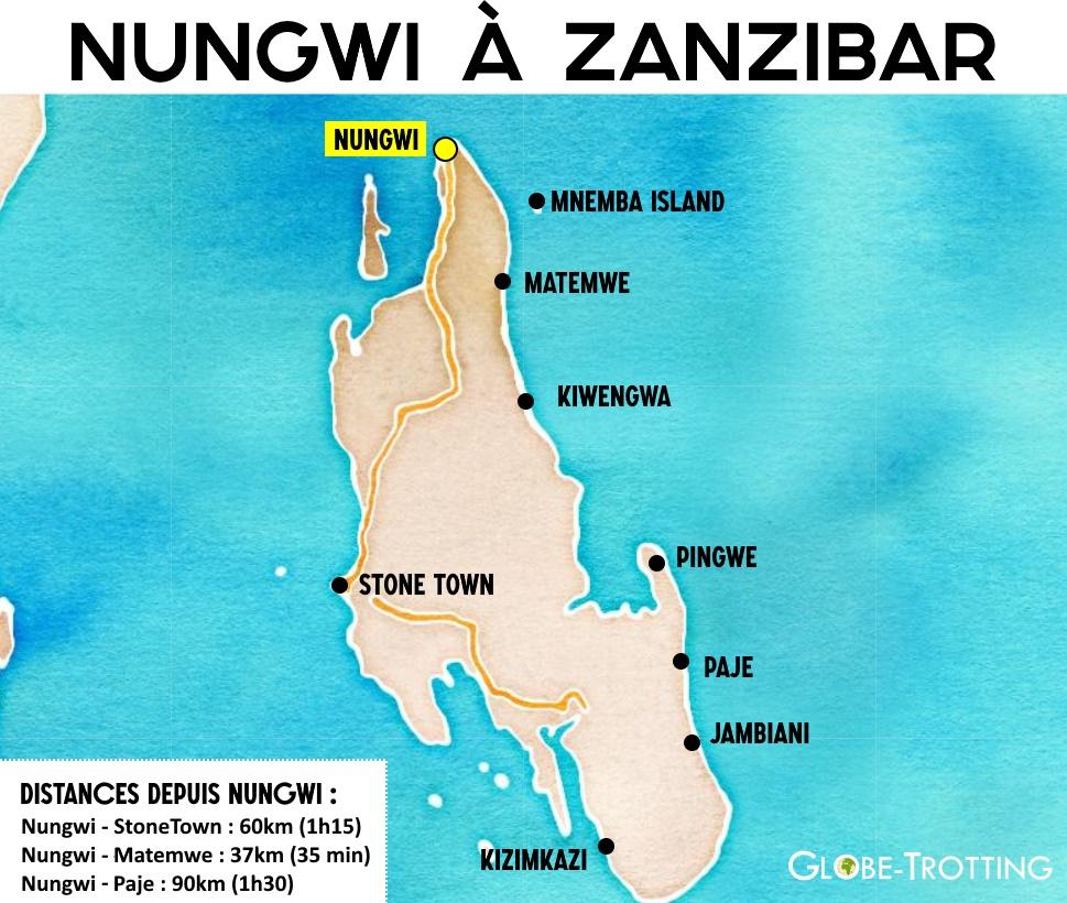 Carte de zanzibar Nungwi