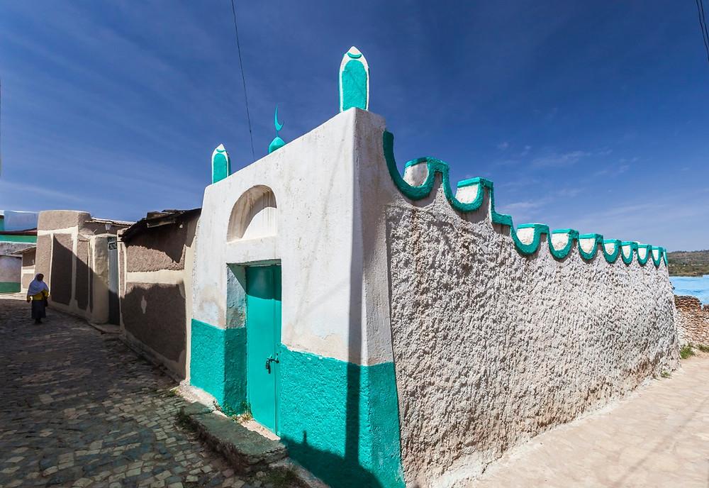 Harar Jugol en Ethiopie murs colorés