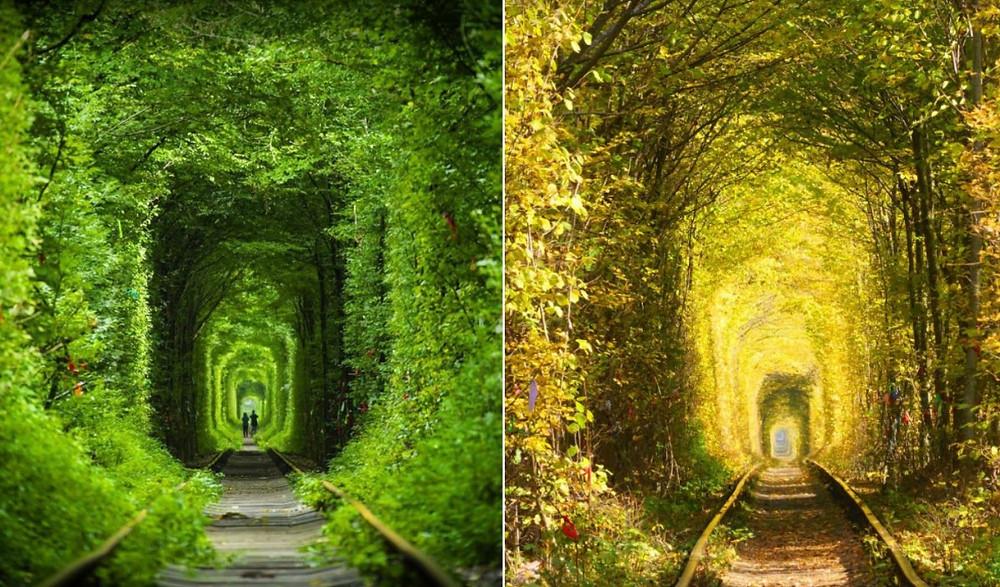 Tunnel de l'Amour en Ukraine