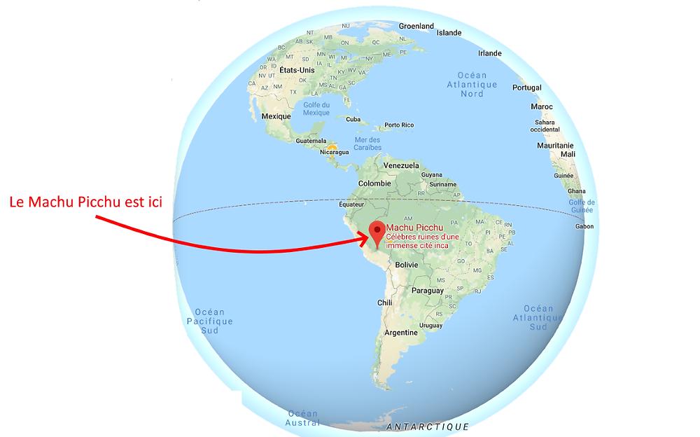 globe Machu Picchu