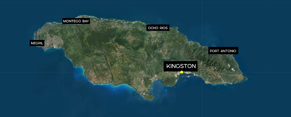 Carte Kingston Jamaïque