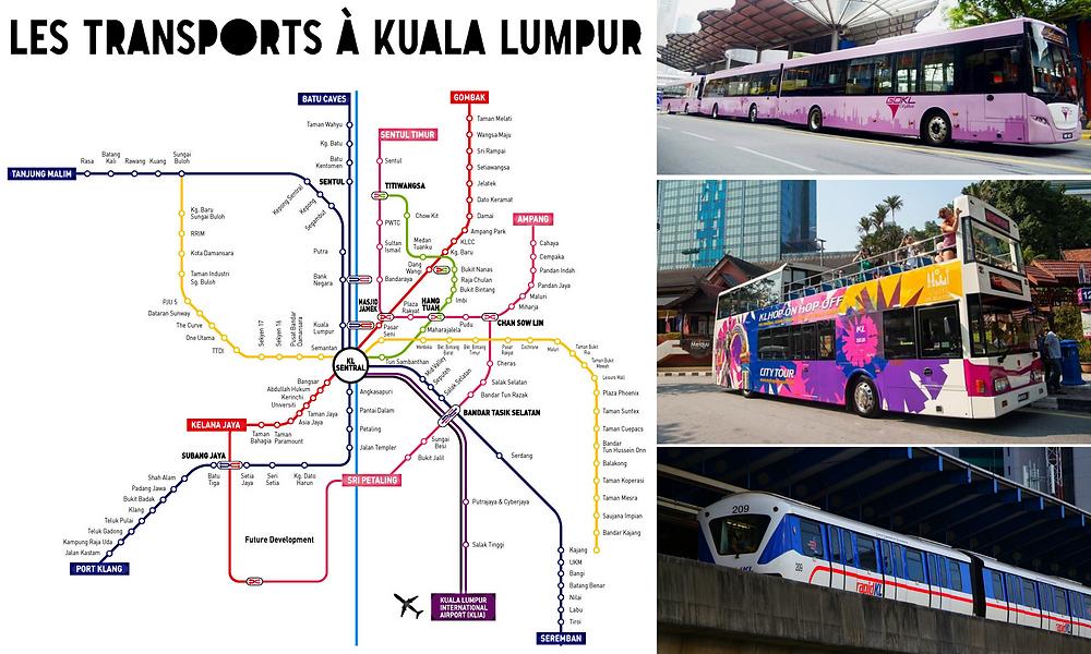 Carte transports Kuala Lumpur