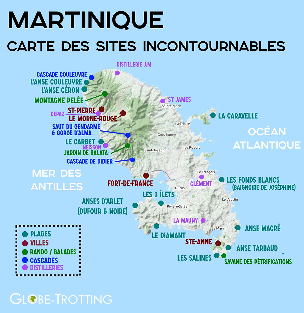 carte que faire en martinique