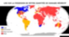 Carte cannabis dans le monde
