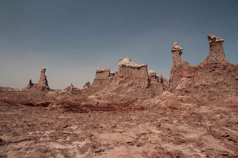 canyon de sel rose en Ethiopie