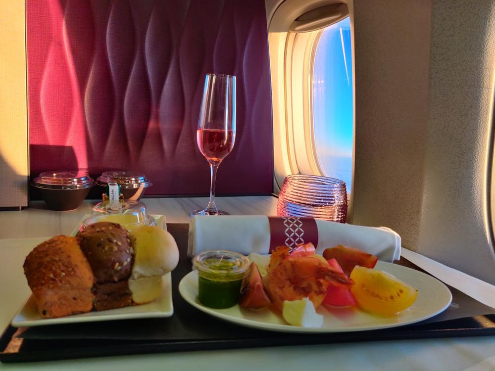 Business class qatar airways Q suite