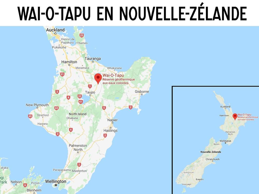 Wai-O-Tapu Carte nouvelle zélande