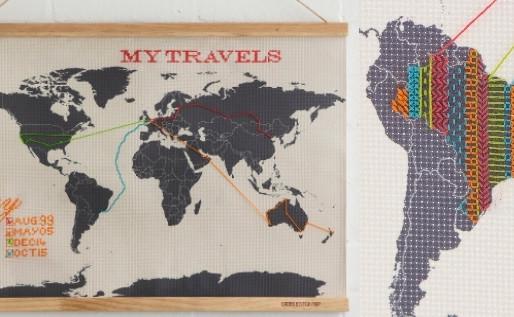 Une Carte Du Monde à Broder