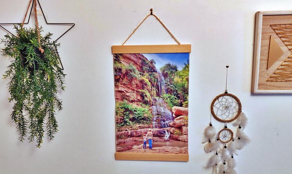 photo voyage sur toile avec support en bois