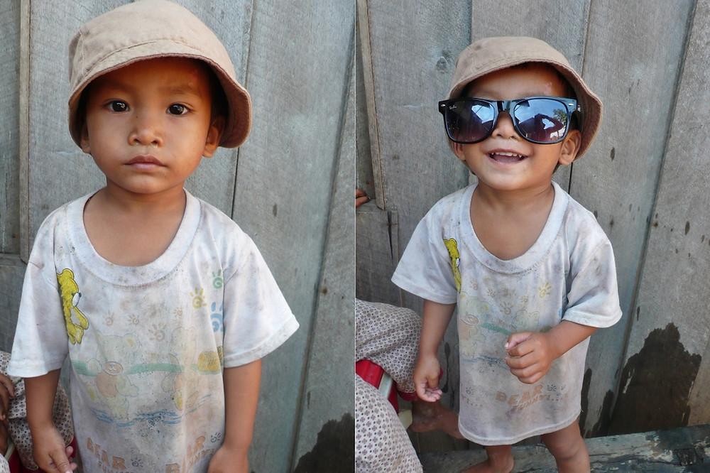 Enfant Cambodge à  Kratie
