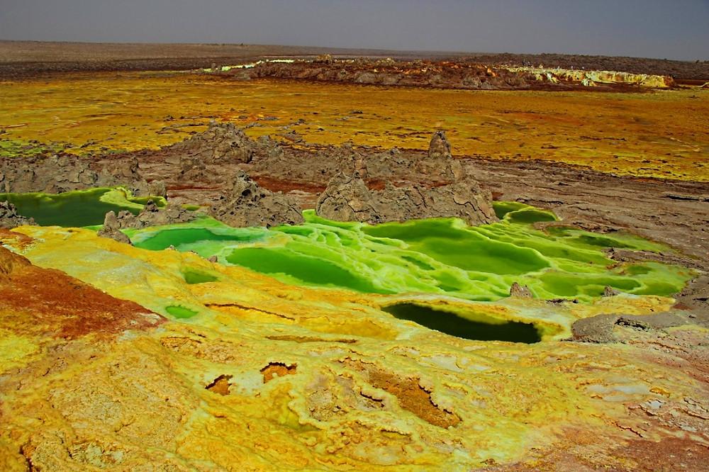 Dallol ethiopie lac vert