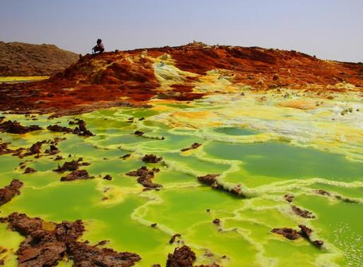 Le volcan Dallol dans le désert Danakil en Ethiopie