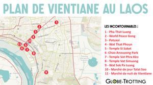 Plan map Vientiane des sites