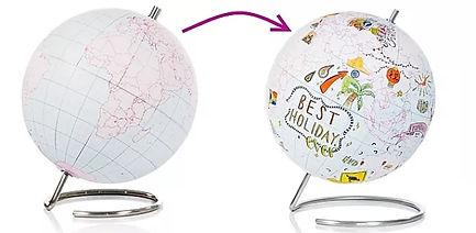 Globe terrestre diy