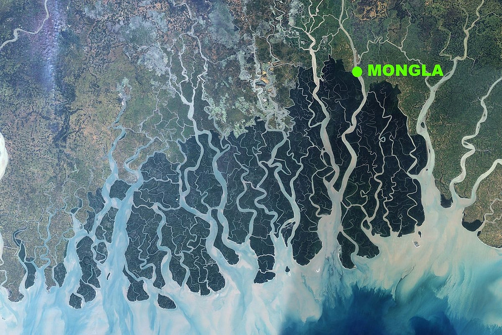 sundarbans mongla map carte