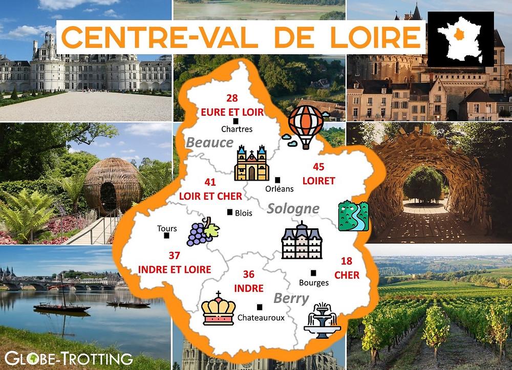 où partir france Centre-Val de Loire