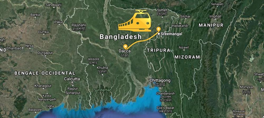 train au Bangladesh : De Dhaka à Srimangal