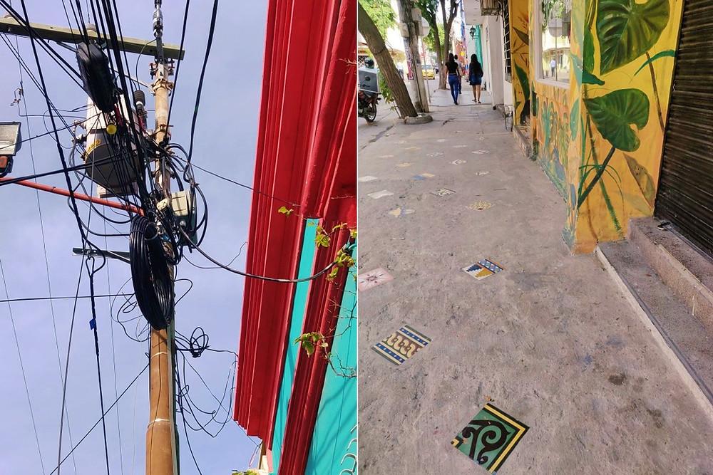 santa marta colombie fils electriques