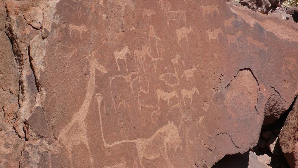Twyfelfontein Namibie peintures rupestres