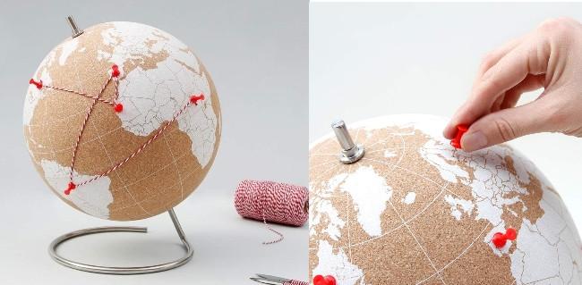 Globe en liège blanc