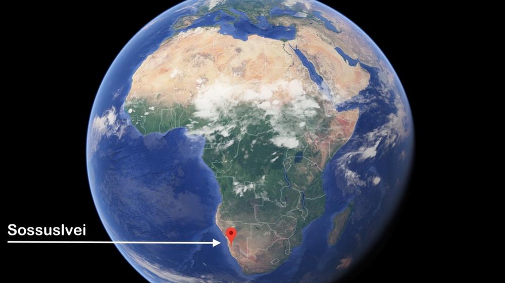 Dunes Sossuslvei Carte du monde