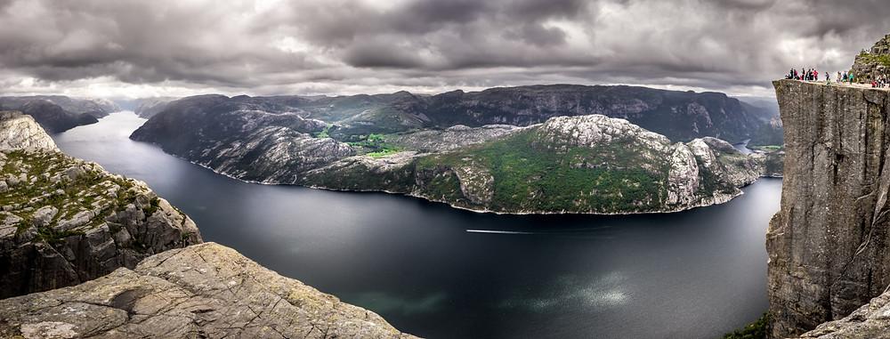 falaise Preikestolen en Norvège