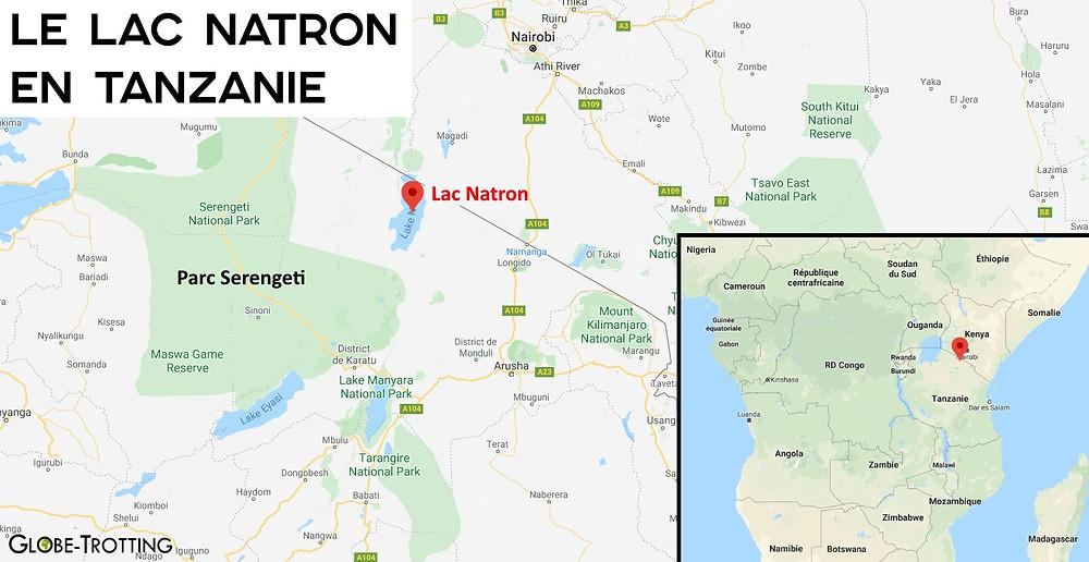 Carte Natron Tanzanie
