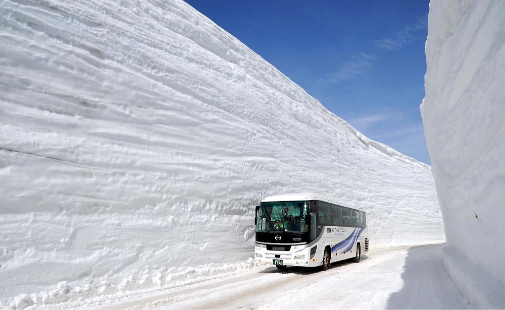 Yukino-ōtani, le mur de neige de la route Tateyama Kurobe Alpine
