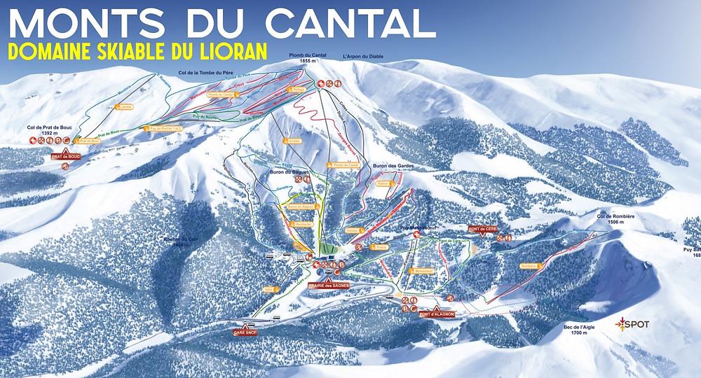 Pistes ski cantal
