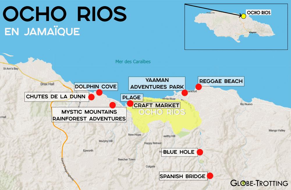Ocho Rios plan carte map