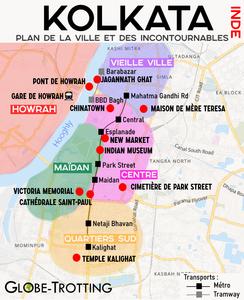 Plan de la Ville Calcutta, Touristic Map