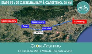 Etape 2 Canal du Midi à vélo