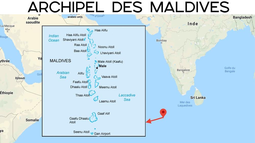 maldives carte des îles