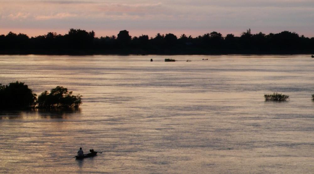 Barques 4000 îles au Laos (Si Phan Don)