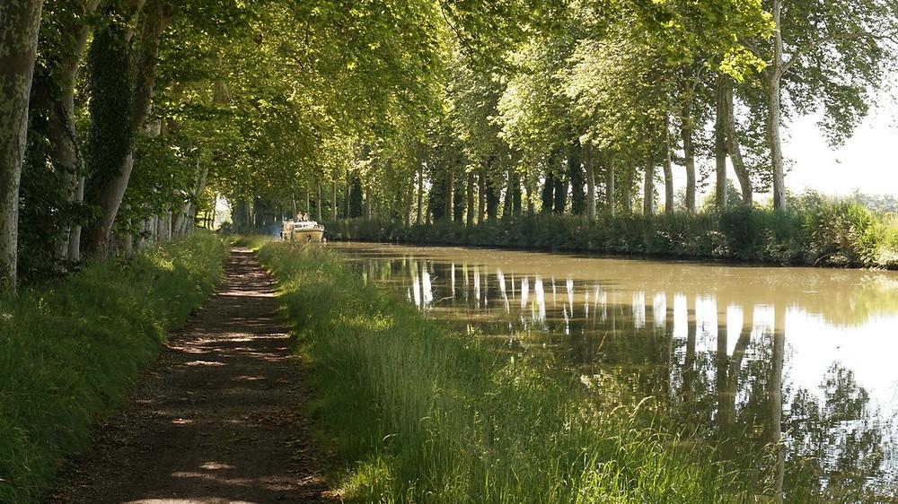 Castelnaudary à Bram Canal du Midi à vélo