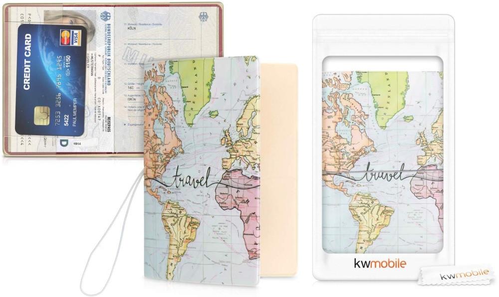 Porte passeport mappemonde