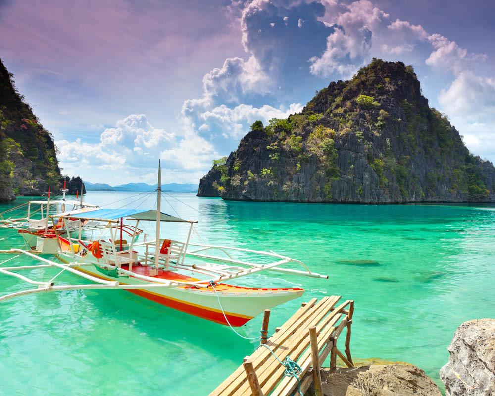 Ile coron philippines kayangan bateau