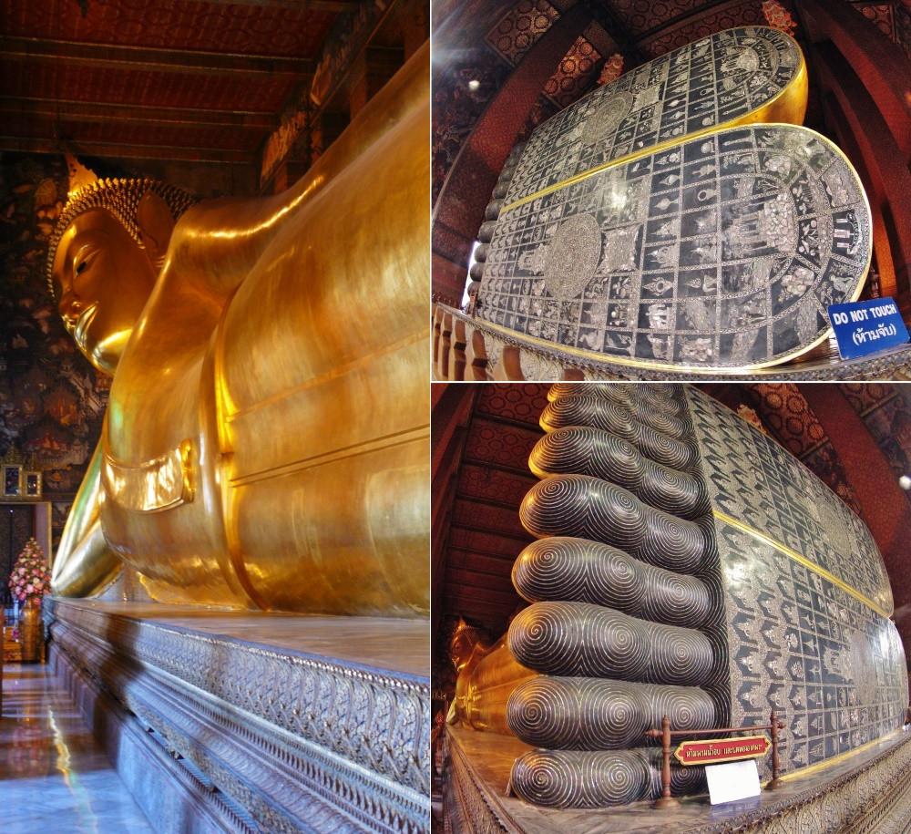 Le Wat Pho Bangkok Bouddha couché