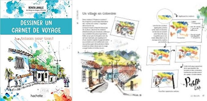 livre pour dessiner carnet de voyage