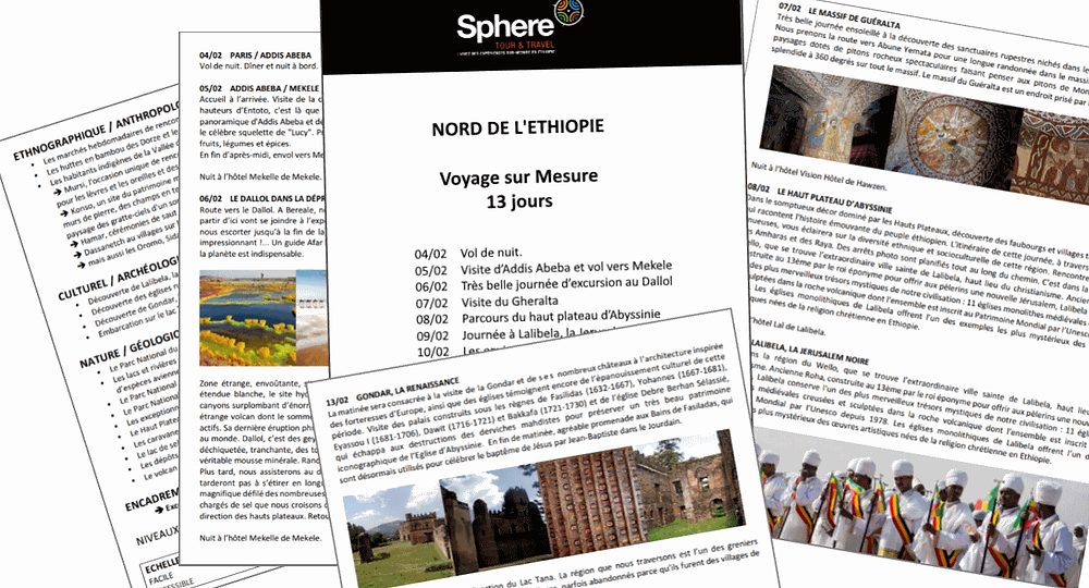 Programme voyage Sphere ethiopie