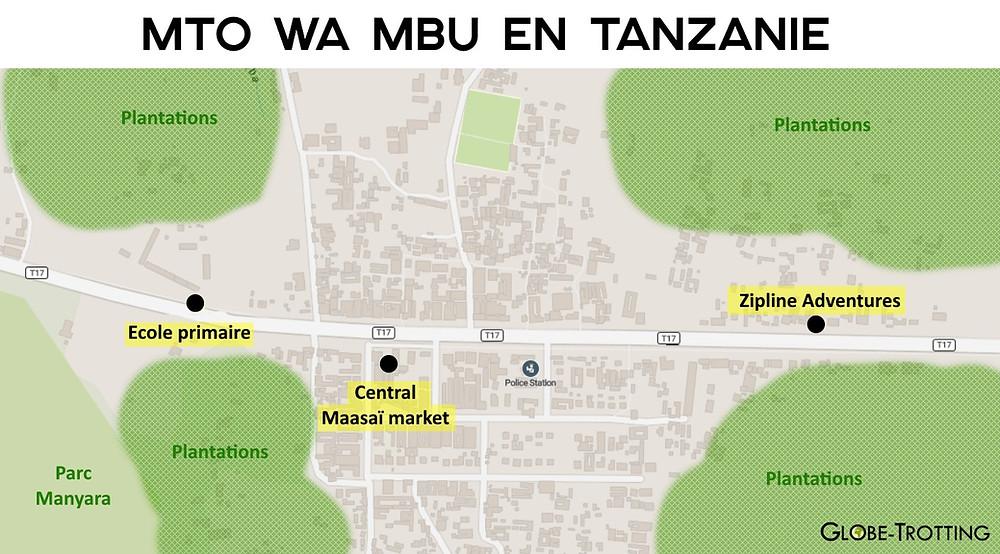 Mto Wa Mbu plan touristique