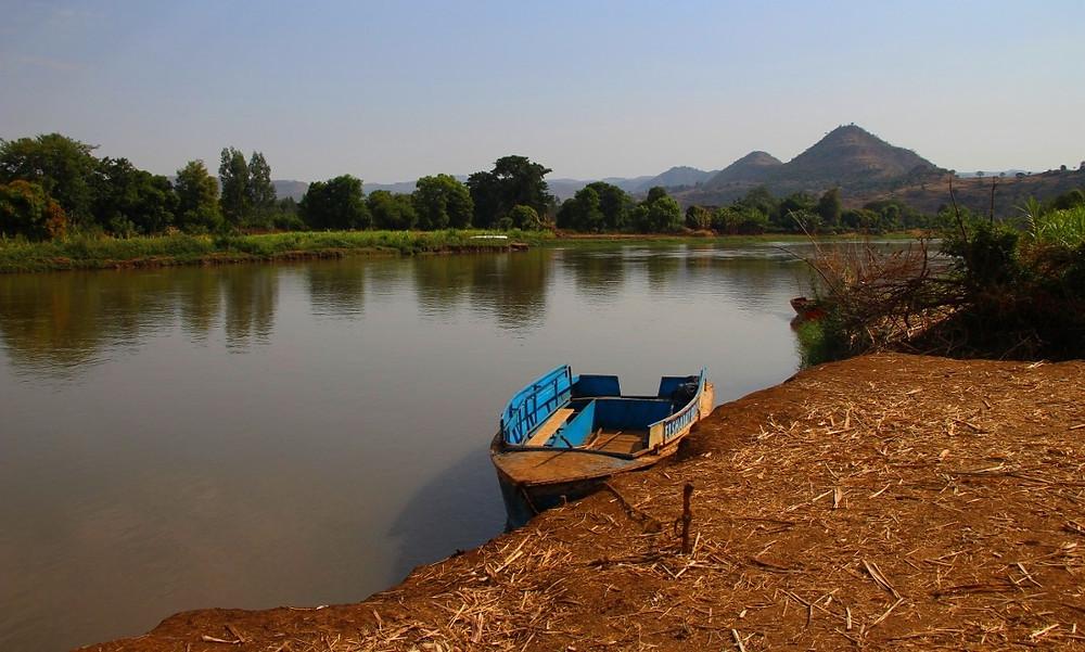 bateau chutes du Nil Bleu en Ethiopie