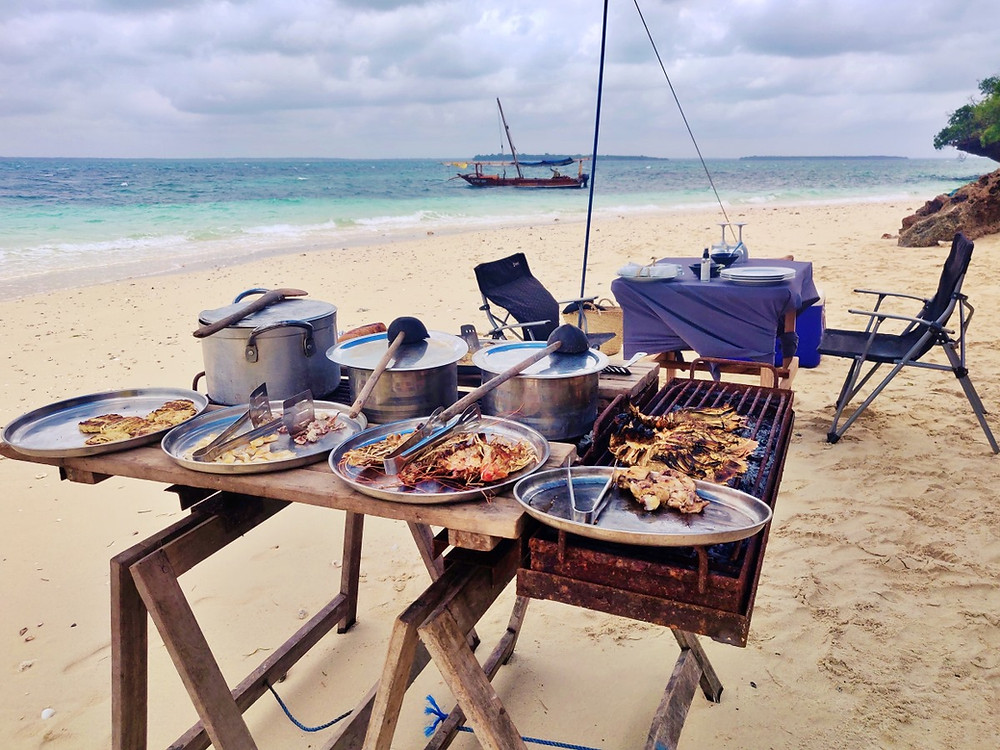 déjeuner île déserte safari blue