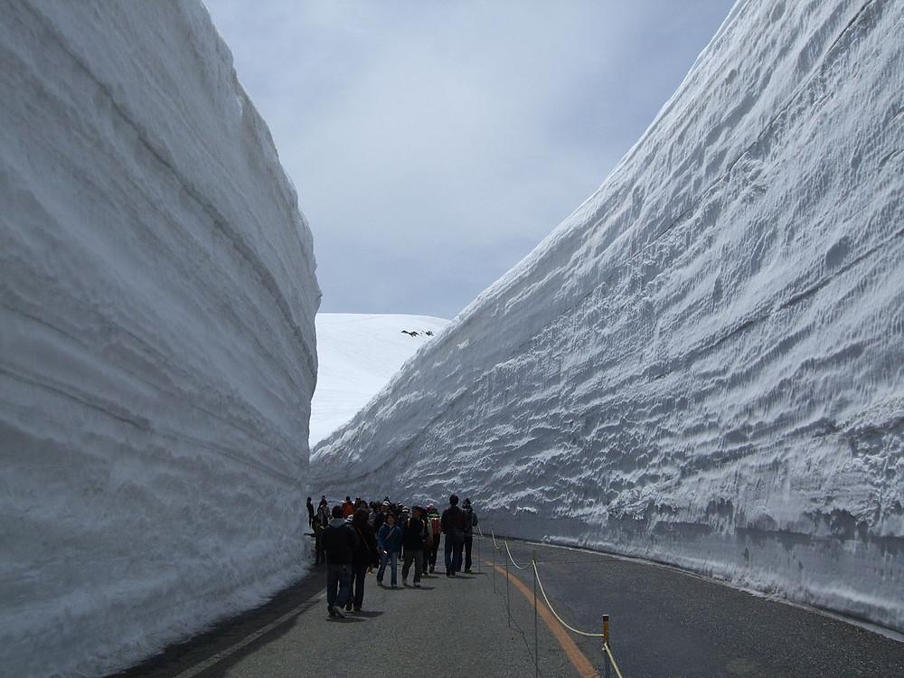 Yuki-no-ōtani mur de neige route Tateyama Kurobe