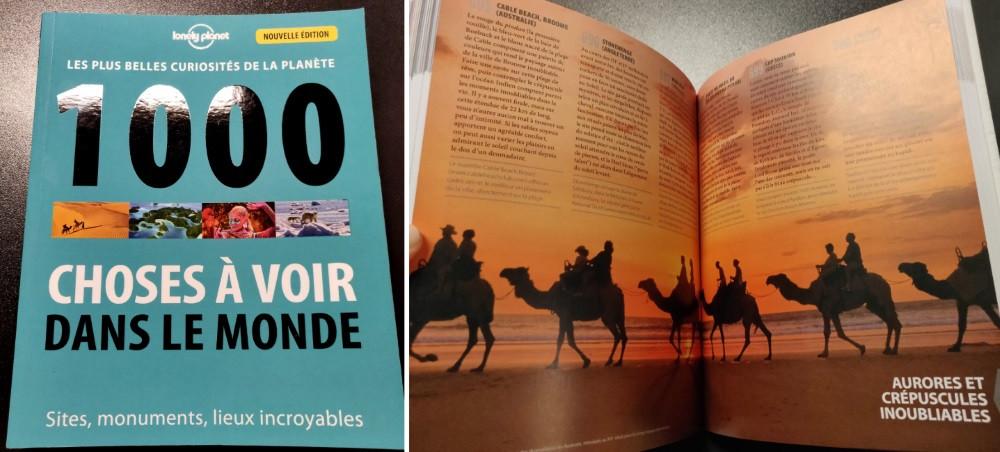 livre 1000 choses à voir dans le monde