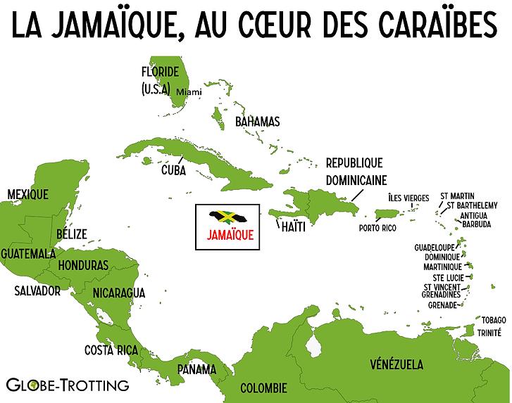 Jamaïque Caraibes Carte