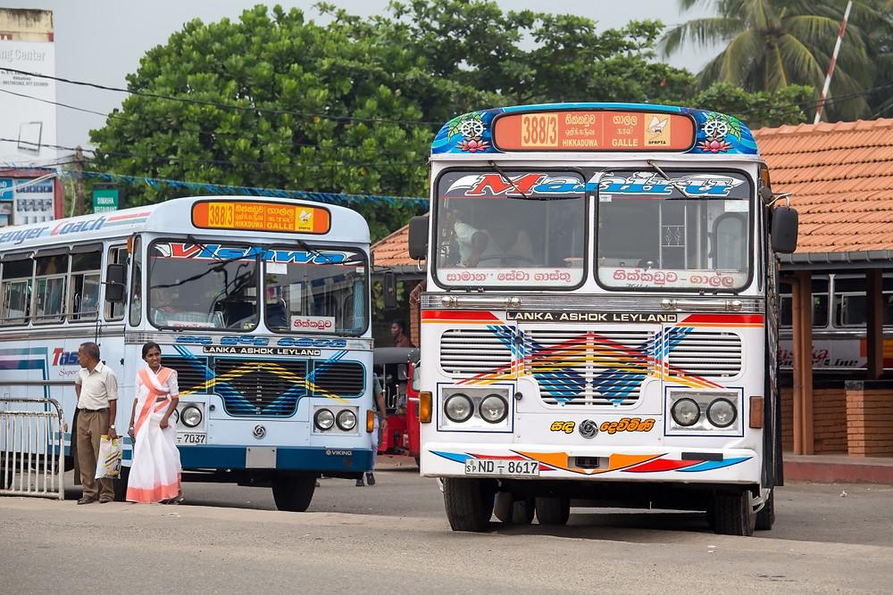 Bus public mirissa tangalle sri lanka