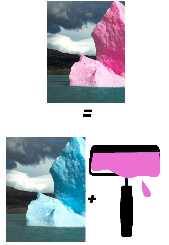 Fake iceberg rose