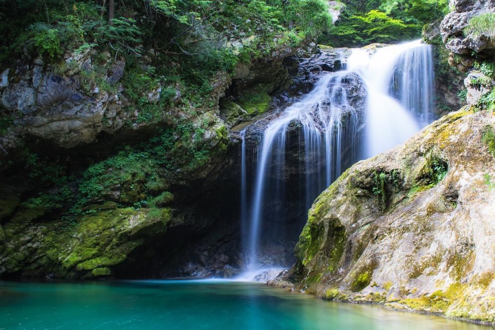 cascade gorge de Vintgar