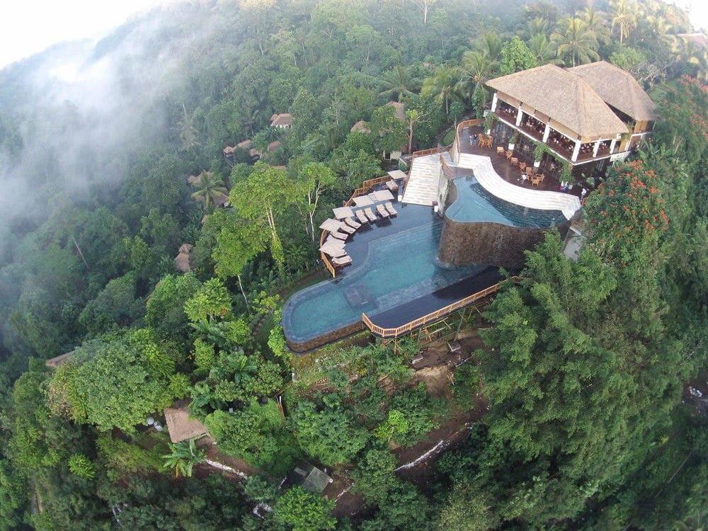 plus belle piscine du Monde vue du ciel